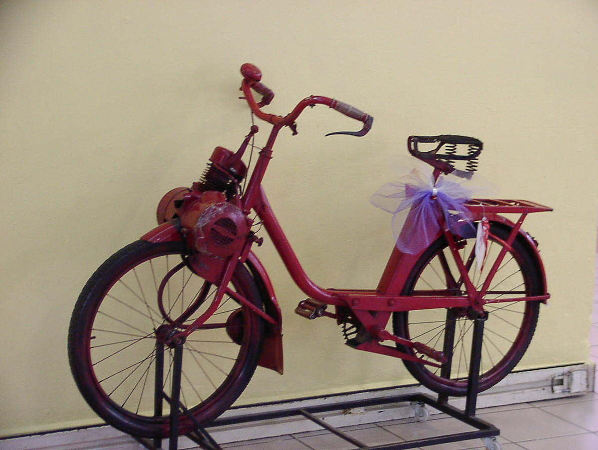 Pedal bike with small petrol engine for Little motors for bicycles