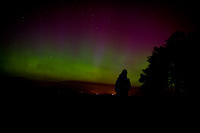 #Aurora from up on the Sherifmuir road.